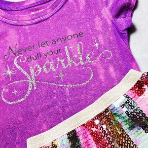 Custom Design Girls Bleached Sparkle tee